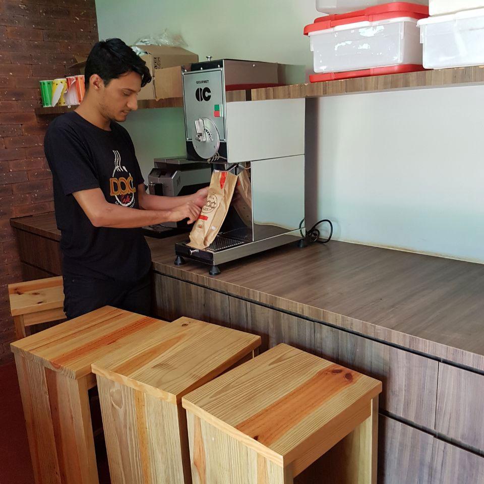 café moído na hora doc café cravinhos fazenda santa maria