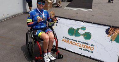 Paraciclista de RP conquista duas medalhas no Brasileiro de Estrada