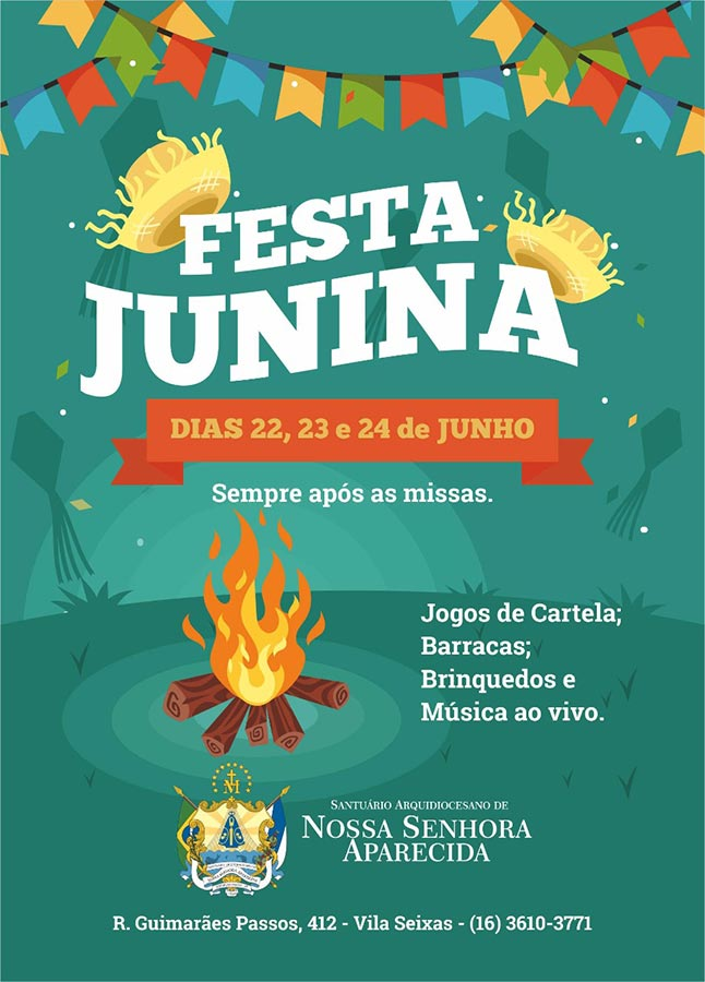 Santuário Nossa Senhora Aparecida realiza tradicional Festa Junina